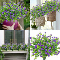 4x Artificial Plastic Ivy Flower Hanging Home Garden Trailing Basket Plant Decor