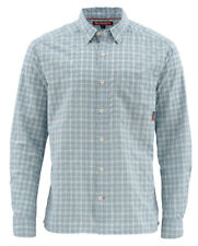 Simms Morada LS Shirt - Blue Grey Plaid - Large - Free US Shipping