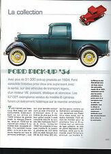 AUTOMOBILE Ford Pick-up 1934   10 pages