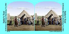 Sutler's Tent Civilian Petersburg VA Civil War SV Stereoview Stereocard 3D 01731