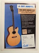 retro magazine advert 1983 GUILD F 45 guitar
