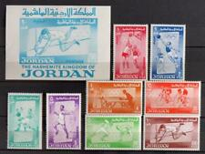 JORDAN 1964 OLYMPICS, XF MNH** Sheet + Set, Ball Sport Stamps, Athletics Japan