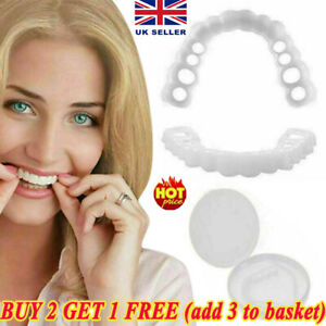Top & Bottom False Teeth Veneers Cover Instant Cosmetic Clip Up Perfect Smile