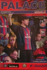 CRYSTAL PALACE v IPSWICH TOWN 2003/04 PROGRAMME