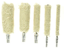 "Rifle Pistol Shot Gun Firearm Cotton Cleaning Mop Brush set 5 Pieces 3"" Length"