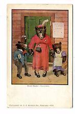 Vintage Postcard Busy Bears Vacation Ji Austen Co Anthropomorphic Dressed Udb