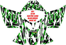 SKI DOO SNOWMOBILE WRAP REV,XP, XR,XS,XM MXZ  99-16 ELECTRIC CAMO DECAL STICKER