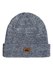 QUIKSILVER MENS BEANIE.PERFORMED BLUE/GREY WARM KNITTED FOLDED HAT 7W 3089 BRQH