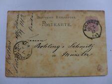 ENTIER POSTAL 1883 DEUTSCHE REICHSPOST    SULINGEN   MUNSTER  carte postale