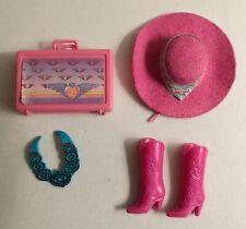 Lotto barbie western fun 1987 (cappello, stivali e collana)