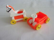 Vintage Fisher Price Little Riders Wagon and Horse on Wheels