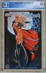 LADY DEATH: LAST RITES #1 (10/2001 | CHAOS!) PGX 9.6 (NM+) Like CGC White Pages