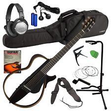 Yamaha SLG200S Silent Guitar - Translucent Black COMPLETE GUITAR BUNDLE