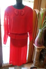 VINTAGE 80'S ~ THE DRESS COM. ~  SKIRT SUIT* Size 14 *