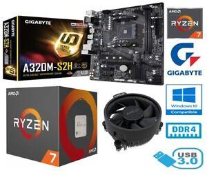 AMD RYZEN 7 2700 BUNDLE - 8 CORE - GIGABYTE A320M-S2H MOTHERBOARD