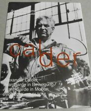 Exhibition Guide ALEXANDER CALDER Avantgarde in Bewegung Düsseldorf 2013 dt/engl