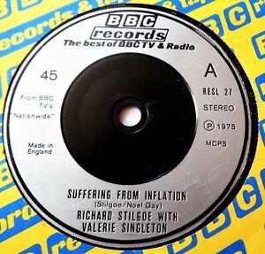 VALERIE SINGLETON Inflation VINYL 45 BBC Records 1975 BLUE PETER Richard Stilgoe