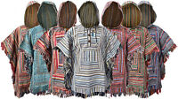 Cotton Gheri Single Serape Cloak Hippie Gypsy Coat Mantas Nepalese Poncho Hoodie
