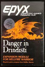 DANGER IN DRINDISTI by EPYX Atari 400/800 - VERY RARE - Sealed