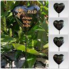 Black & Gold Resin Memorial Lily Heart Stick Stake Graveside Spike Crematorium