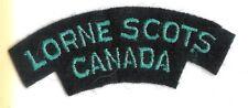 Canadian Army Lorne Scots Battle Dress Shoulder Flash