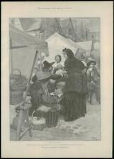 """1888 - Antique Print FINE ART """"For Faith and Freedom"""" Walter Besant  (084)"""