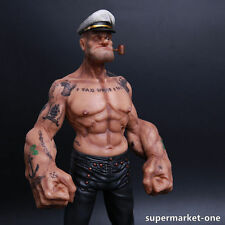 """12""""Popeye 1/6 FIGURE The Sailor Resin Statue Realistic TATTOO BODY Ver. In stock"""