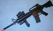 AR15/M4 Electric Airsoft Gun w/Adjustable Metal Laser, Flashlight, Scope M83A2