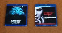 HORROR FRIGHT NIGHT 1 & FRIGHT NIGHT 2 BLU-RAY + DVD LOT- BRAND NEW