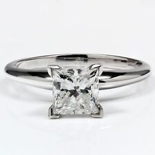 14K Gold 1.21 ct Princess Cut Diamond Solitaire Engagement Ring I SI1