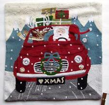 POTTERY BARN ROAD TRIP SANTA CHRISTMAS HOLIDAY PILLOW COVER  NEW