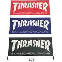 "Thrasher Magazine Logo Rectangle Sticker 3.75"" Skateboard Decal 3 Color Choices"