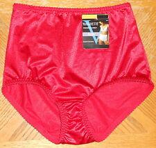 Vassarette Undershaper Brief Panty Sz 6 (Medium) NWT Icon Red