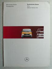 Prospekt Mercedes Vito 108 D, 110 D, 113 - Technische Daten, 1.1996, 8 Seiten