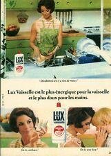 Publicité ancienne produit vaisselle LUX 1968