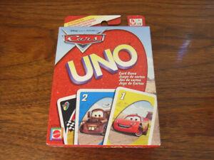 Pixar Cars Movie UNO Card Game 2006 SEALED Mint