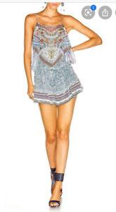 Camilla Antique Batik Embellished Shoestring Playsuit Size 1 Small $4 EXPRESS