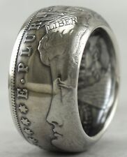 TOP QUALITY~MORGAN DOLLAR SILVER COIN RING~HANDMADE TO ANY SIZE FROM 10-14 (HO)