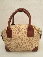 -AUTHENTIQUE petit sac à main DOONEY & BOURKE cuir et toile TBEG vintage bag