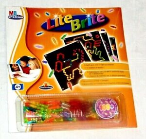 LITE BRITE REFILL PACK HASBRO MB CREATION 100+ PEGS 12 STENCIL SHEETS NEW