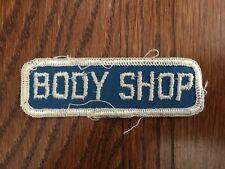 Vintage Body Shop Mechanics Uniform Patch Gas Oil Petroleum Auto Hot Rod Rat Rod