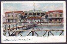 ROMA CIVITAVECCHIA 42 STABILIMENTO BALNEARE PIRGO Cartolina viaggiata 1905
