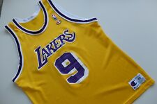 Vintage LA Lakers Los Angeles Champion Basketball NBA 48 L/XL Van Exel Yellow