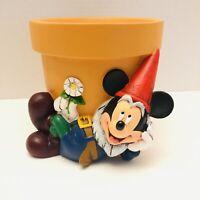 RARE Disney Parks Epcot Mickey Mouse Gnome 3D Garden Planter Pot New!