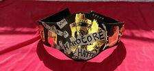 HARDCORE HEAVYWEIGHT WRESTLING CHAMPION BELT 4MM ZINC & 24K GOLD PLATED