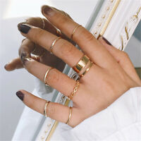 8 Pcs//set Gold Midi Finger Ring Set Retro Punk Boho Knuckle Rings Jewelry Hot