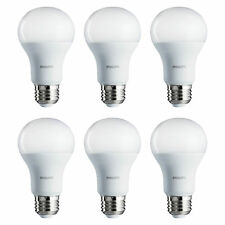 Philips 10 Watt A19 75W Replacement 1000 Lumen Daylight LED Light Bulb, 6 Bulbs