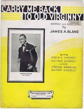 Carry Me Back To Old Virginny, Freddy Martin photo, 1935 vintage sheet music