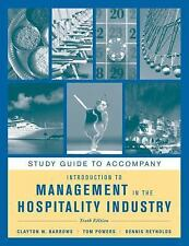 Introduction to Management in the Hospitality Industry, Study Guide-ExLibrary
