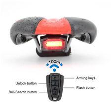 3 in 1 Fahrradalarmanlage Alarmschloss Fahrrad Lampe Rücklicht Leuchte Licht